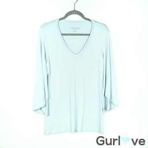 Soft Surroundings Light Blue Bell Sleeve Tunic Top